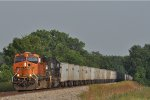 BNSF 7422 On NS 264 Westbound