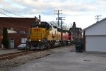 The pair of geeps slowly pass through Bedford, OH.