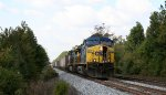 CSX 255 leads the rock train toward town